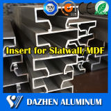 Customized Popular Design Decorative Slatwall Insère MDF Aluminium Aluminium Profil