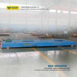 Carretilla eléctrica del transporte de la carga pesada que se ejecuta en ferrocarril