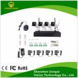 4PCS Câmara para exterior IP 4CH Wireless WiFi Suporte do Kit de NVR 720p P2P