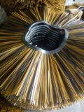El barrendero de calle del camino del fabricante de China aplica cepillos de alambre con brocha de acero del polipropileno de los PP
