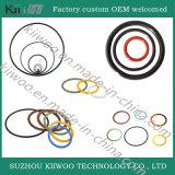 Giunto circolare nero durevole poco costoso su ordinazione della guarnizione della gomma di silicone