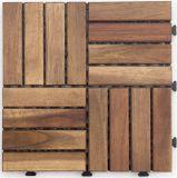 DIYの純木のDeckingのタイルのフロアーリングの庭の家具のアカシアの木製のデッキのタイル