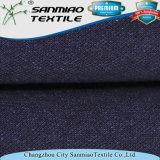 Piqué neuve de textile de coton de l'indigo 100 de modèle tricotant le tissu tricoté de denim pour la chemise de polo
