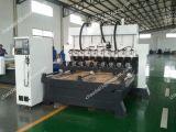 Una macchina di scultura rotativa 3D Carver di legno di 4 assi per le mobilie