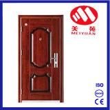 Porte extérieure de sûreté en acier de garantie pour la maison de rapport