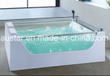 BALNEARIO derecho libre de la bañera del masaje del rectángulo de 1800m m con ambas caras de cristal para 2 personas (AT-0718)
