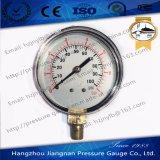 """60mm 2.5 """" 고품질 까만 강철 주거를 가진 일반적인 압력 계기"""
