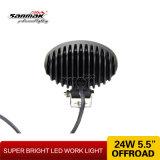 5 pouces Oval 24W Auto Offroad LED lumière de travail