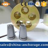 Anchorage de fabricación pretensada galvanizada 7-Hole redonda