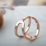 Anello di barretta personalizzato dell'acciaio inossidabile dei monili degli accessori di modo