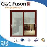 Guangdong Woodwin vendedor caliente de cristal templado doble puerta corrediza de aluminio (FX-17004)