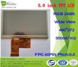 """5.0 """" индикация 480*272 RGB 40pin 300CD/M2 TFT LCD, панель касания варианта"""
