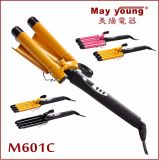 Professional Tourmaline Triplo Barrels LCD Hair Curling Iron