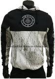 Hoody de algodão escovado grossista elegante para homens com design de impressão