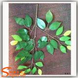 인공적인 Ficus 잎 도매에 백색 벵골 보리수 잎