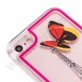 Accessori liquidi del telefono mobile della cassa del Quicksand di scintillio LED per il iPhone 8