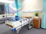 Letto di ospedale medico manuale del paziente di base delle manovelle della base 2 di professione d'infermiera (AG-BMS101A)
