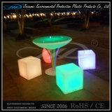 PE 물자 회전 주조 플라스틱 LED 클럽 입방체 의자