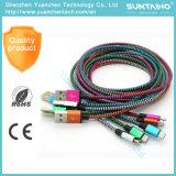 Câble de charge multi-couleur Flat Micro USB pour Samsung Mobile Phone