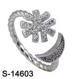 순은 입방 지르코니아 십자가 반지 형식 반지