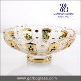 Bacia de vidro dourada de chapeamento da bacia de vidro