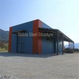 Edificio temporal ligero prefabricado de la estructura de acero