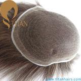 Sistema svizzero completo personalizzato dei capelli del merletto del Toupee dell'interruttore legato mano