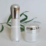 Nuova bottiglia crema acrilica dell'argento/bianca vaso della lozione per le estetiche (PPC-NEW-108)