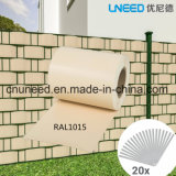Cerca del jardín de la pantalla de la tira del PVC de la buena calidad Ral1015 450g el 19cm*35m