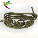 Stlb-17011003方法ステンレス鋼のアンカー傘ロープのブレスレット