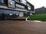 Outdoor Strand tissé le sol en bambou pour le pontage