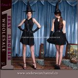 Traje atractivo de la alineada del carnaval de las muchachas de Víspera de Todos los Santos de la bruja de lujo adulta del partido (TLZQ6511)