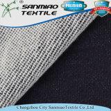 Tessuto lavorato a maglia del denim del maglione dell'indaco tinto filato