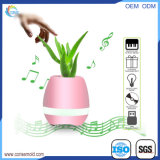 Maceta plástica del altavoz de Bluetooth de la maceta elegante de la música con el LED