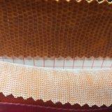 Кожа PVC зерна камушка для делать Мешок повелительницы