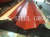 El color 0.15/0.18*665 cubrió la placa de material para techos de acero/el perfil acanalado prepintado del material para techos