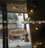 Freie hängende Beleuchtung-Luftblasen-Kristallprojekt-Leuchter der Glaskugel-LED