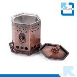 Mini stufa di accampamento di campeggio portatile Bronze dell'alcool della stufa di gas dell'acciaio inossidabile