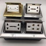 Soquete de potência elétrico de alumínio do assoalho 250V/10A da placa 120*120mm