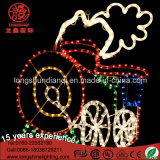 LED Silhouette 64 * 60cm Train Rope Lights Motif Light Decoração de Natal com Ce