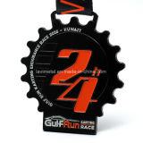 カスタム障害および適性の挑戦黒の金属のスポーツメダル