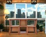 3 ротанга части стола стула обедая установленная мебель ротанга