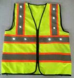 Gilet élevé de sûreté de visibilité avec 20 DEL pour 2 couleurs