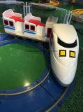 Белый электрический мини-поезд в топливораспределительной рампе слот игры для детей машины