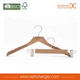 Ganci di legno del vestito del cappotto della particella efficiente di legno della natura di Eisho
