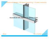Mur de rideau en verre en aluminium à économie d'énergie