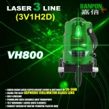 Линии Self-Leveling уровень зеленого луча Danpon ручных резцов Multi лазера с веском ставят точки тип Vh800
