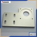 Placa de alumínio anodizado prateado metálico máquinas CNC parte