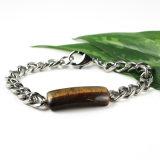 De natuurlijke Armband van de Steen met Roestvrij staal