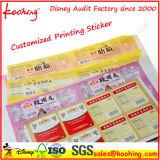 OEM de Sticker van het Zelfklevende Etiket van de Streepjescode van het Serienummer van de Druk